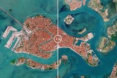 Ảnh vệ tinh tiết lộ thay đổi ở thành phố lãng mạn nhất Italia do Covid-19