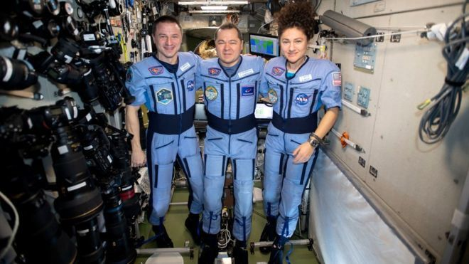 Coronavirus: Space crew return to very different Earth