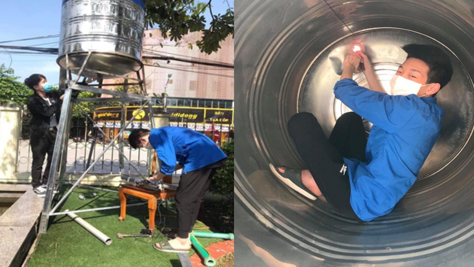 """Học sinh Lào Cai chế tạo """"máy ATM phát gạo"""" cho người nghèo"""