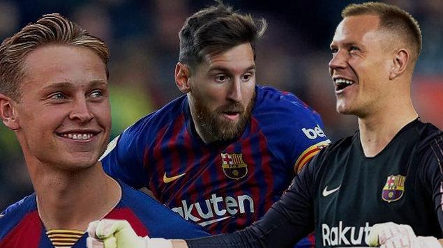 Barca bán hàng loạt, chỉ Messi, Ter Stegen, De Jong an toàn