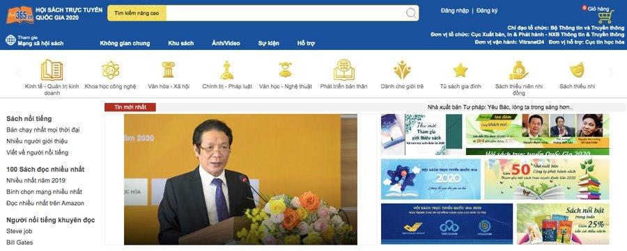 Khai mạc Hội sách trực tuyến quốc gia 2020