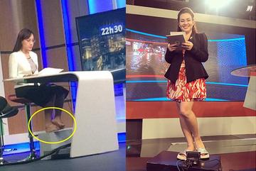 Khoảnh khắc 'dưới gầm bàn', không lên sóng của các MC, BTV của VTV