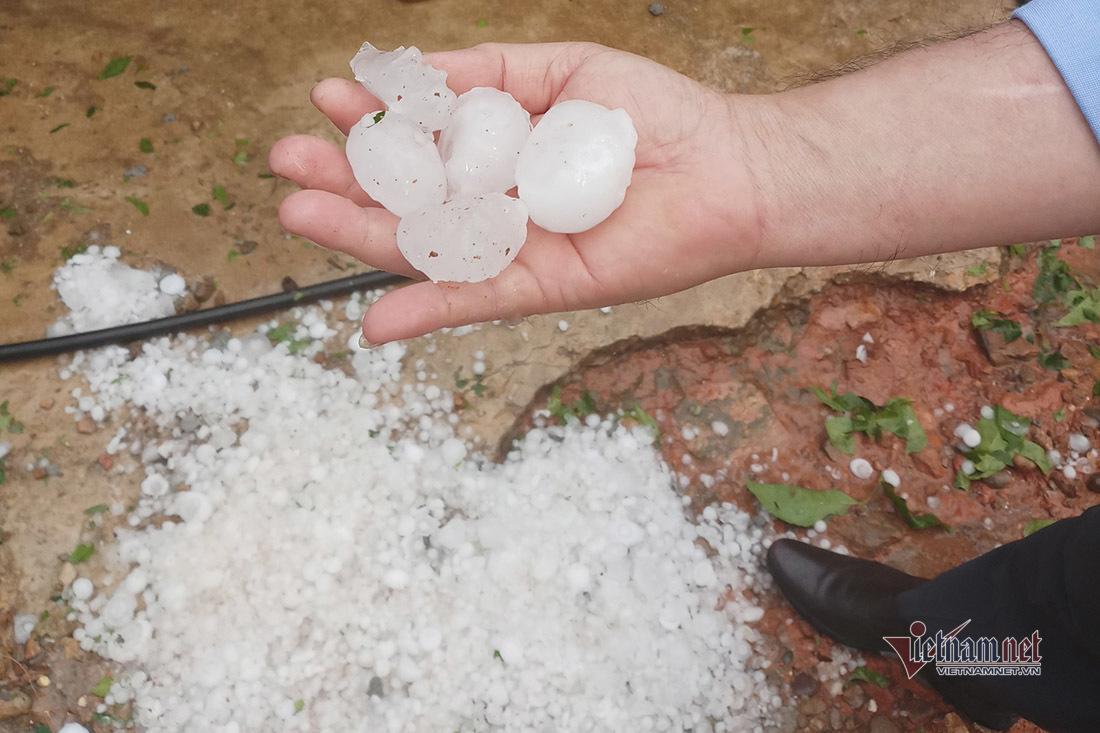 15 phút mưa đá trút ầm ầm, hàng chục ngôi nhà ở Nghệ An tốc mái