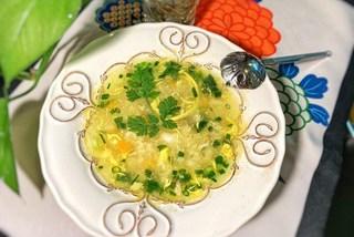Quinoa crab soup- healthy comfort food