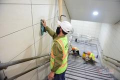 Cận cảnh bên trong nhà ga ngầm tuyến metro Bến Thành - Suối Tiên