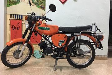 """Xe máy Simson đời 1985 giá 12 triệu """"hồi sinh"""" đẹp long lanh"""