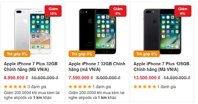 iPhone 7 và iPhone 8 tiếp tục rớt giá, về ngang với điện thoại bình dân