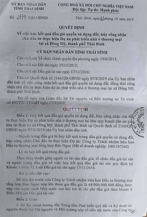 Từ vụ Nguyễn Xuân Đường, lộ lỗ hổng trong đấu giá đất ở Thái Bình