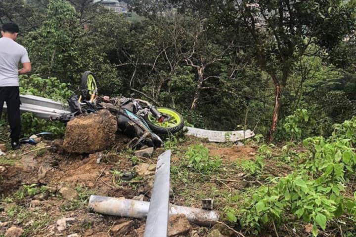 Ô tô tông xe máy cùng rơi xuống vực ở Tam Đảo, 4 người chết