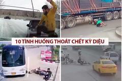 10 pha lái xe thót tim, thoát chết kỳ diệu trong gang tấc