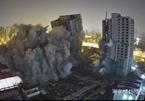 Giật sập 4 cao ốc bỏ hoang 20 năm trên đất vàng lúc nửa đêm
