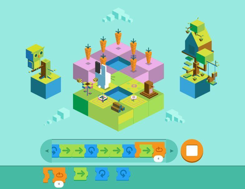 Dân mạng mê mẩn trò chơi lập trình cho trẻ em trên Google