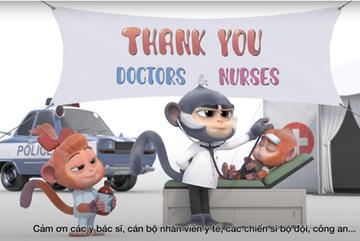 VinTaTa làm phim hoạt hình 3D tri ân 'anh hùng' chống dịch Covid-19