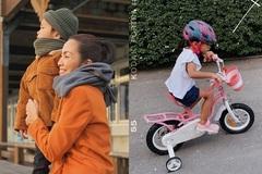 Hình ảnh hiếm hoi về 2 con của Tăng Thanh Hà và Louis Nguyễn