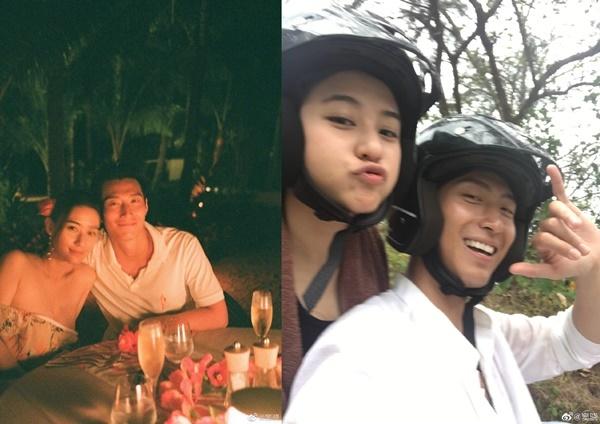 Angelababy thân mật với đàn em Thái Từ Khôn ghi hình 'Running Man'