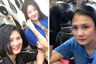 Người đẹp bóng chuyền Kim Huệ tập boxing, khoe con gái xinh xắn