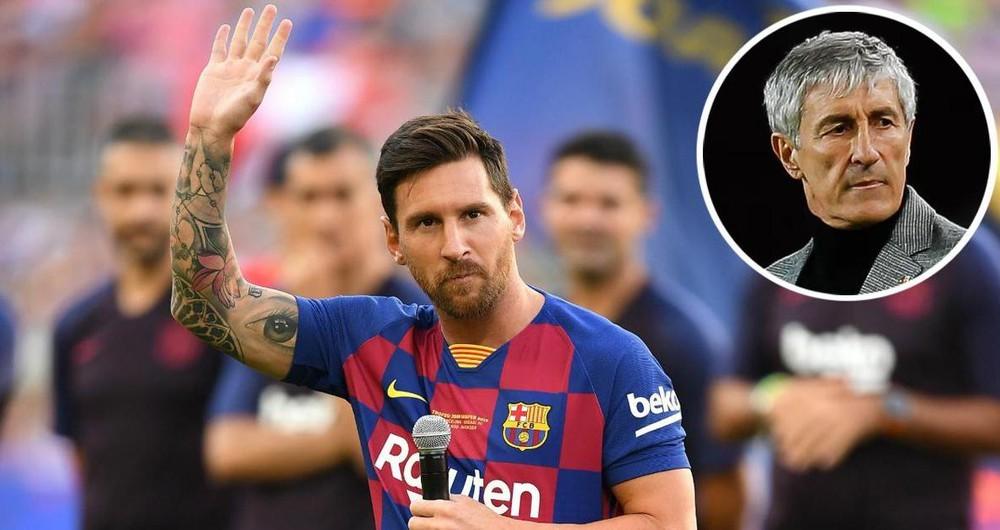 HLV Quique Setien lên tiếng về tin Messi rời Barca