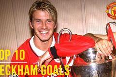 Top 10 bàn thắng đỉnh nhất của Beckham cho MU
