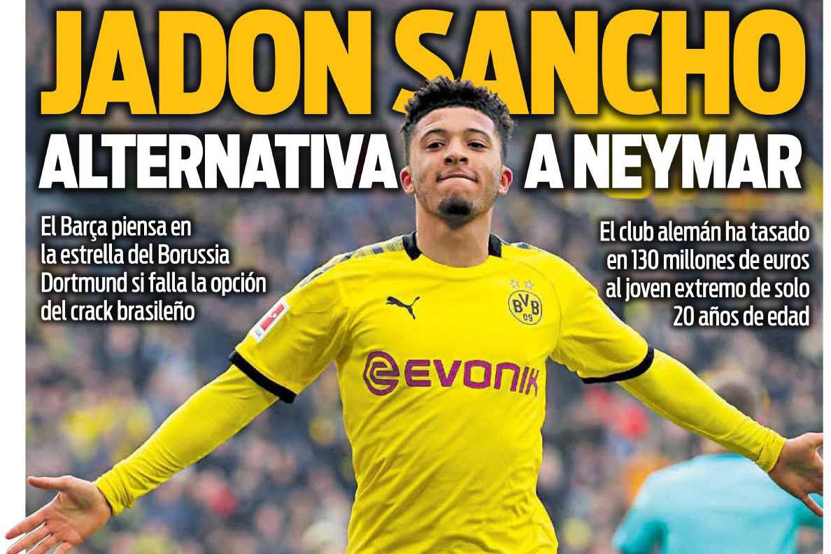 Barca 'cướp' Jadon Sancho ngay trên tay MU