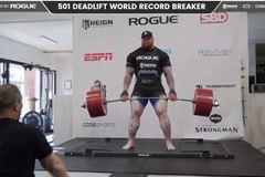 Lực sĩ lập kỷ lục thế giới với mức tạ 501kg
