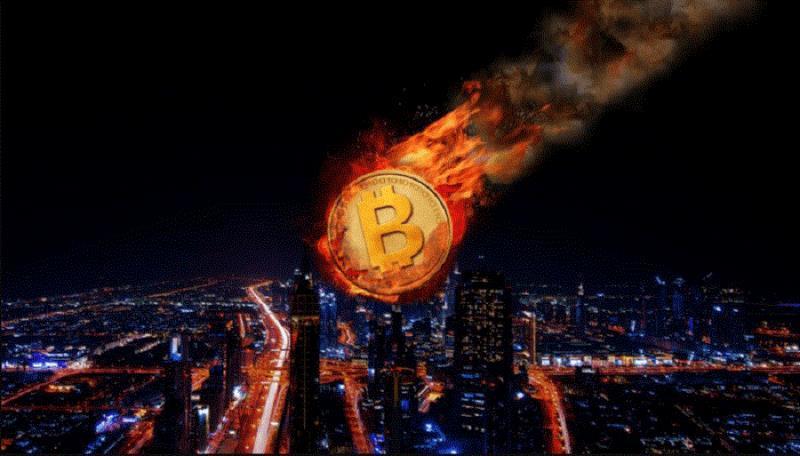 Bitcoin lao dốc, thị trường tiền ảo rực lửa