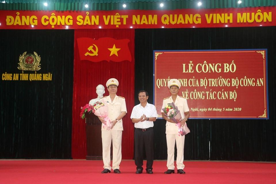 Phó GĐ Công an Bình Định làm Giám đốc Công an tỉnh Quảng Ngãi