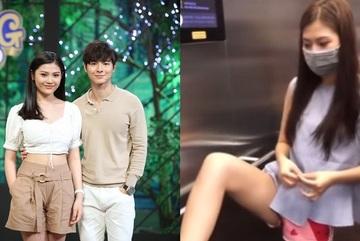Người mẫu Chúng Huyền Thanh bị chỉ trích dùng chân bấm thang máy