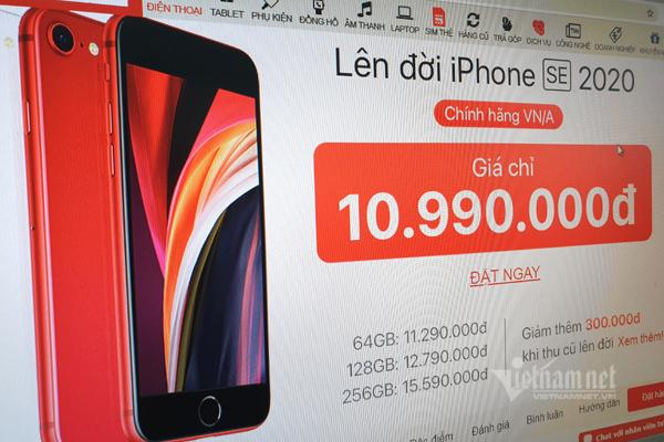 Giá iPhone SE 2020 tại VN biến động mạnh, sẽ còn giảm sâu