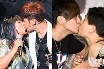 Loạt ảnh La Chí Tường và mẹ ruột hôn môi thân mật gây tranh cãi dữ dội
