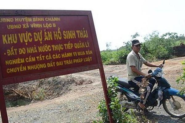 Qua 3 chủ đầu tư, dự án sinh thái hồ Vĩnh Lộc vẫn 'bất động' suốt 16 năm