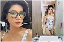 Sau khi 'đùa' về chuyện bầu 4 tháng, Trang Trần tự tin mặc bikini khoe bụng mỡ 109 cm