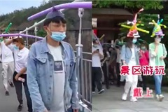 Muôn kiểu mũ cách ly Covid-19 hài hước ở Trung Quốc