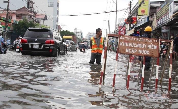 TP.HCM chi thêm gần 300 tỷ xóa 'rốn' ngập nặng ở cửa ngõ phía Nam