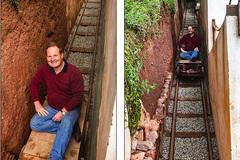 Kỹ sư làm tuyến đường sắt riêng lên tận cửa nhà tặng vợ
