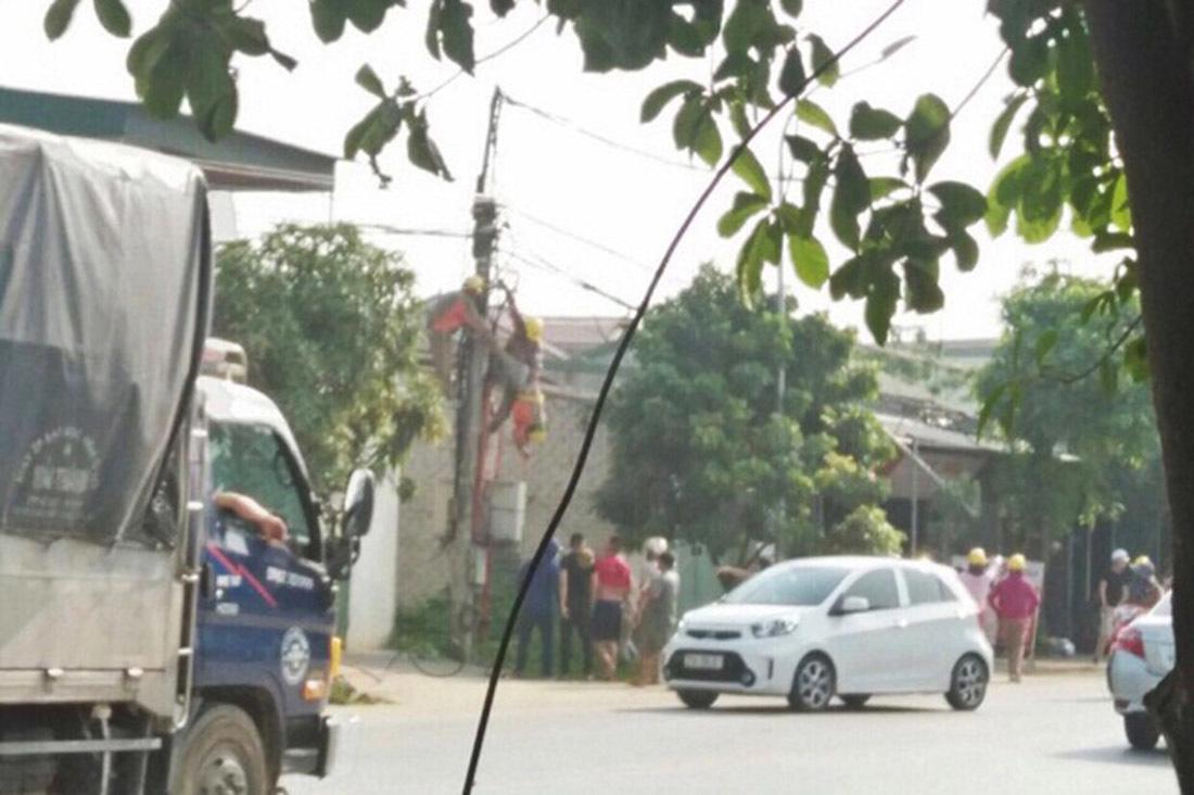 Công nhân bị giật tử vong trên đường dây đã ngắt điện