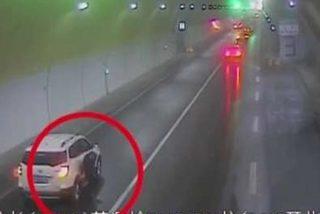 Suýt chết hai lần vì dừng xe bất ngờ giữa đường cao tốc