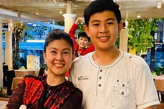 Kim Thư xúc động trước hành động trưởng thành của con trai