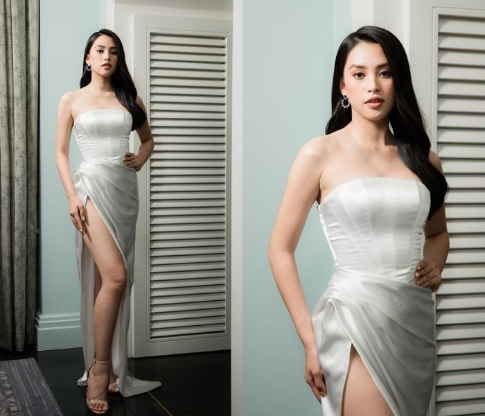 Quỳnh Nga gợi cảm trong thiết kế đầm dài