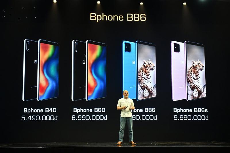 Trên tay BPhone B86: Điện thoại không nút bấm, chống nước, có eSIM