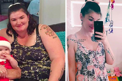 Cô gái giảm 90 kg trong 3 năm