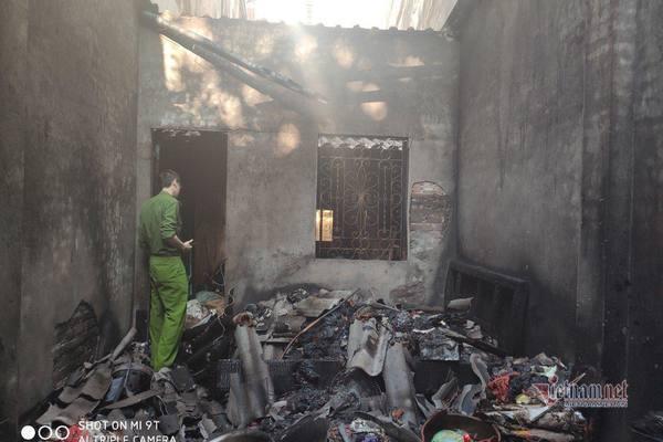 Cháy ngôi nhà cũ ở Hải Dương, cụ bà 82 tuổi tử vong