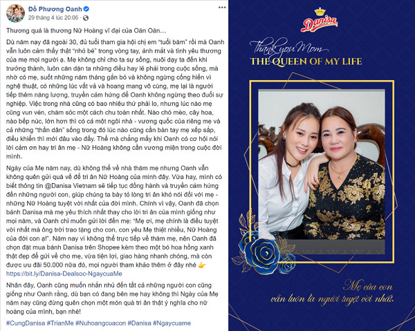 Danisa truyền cảm hứng tri ân đấng sinh thành