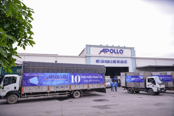 Hàng triệu chiếc khẩu trang từ Apollo Silicone bàn giao Bộ Y tế
