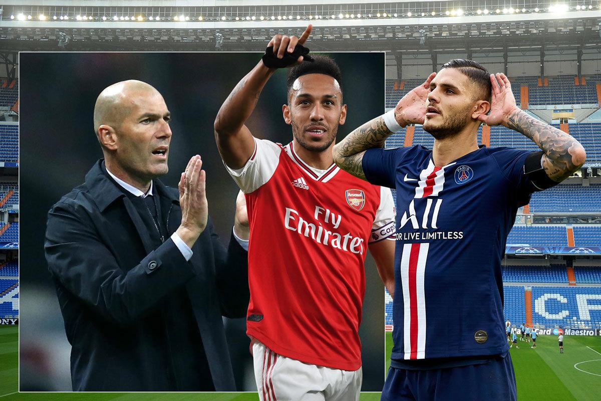 Real Madrid vung 100 triệu euro lấy Icardi và Aubameyang