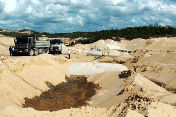 Khai thác, vận chuyển khoáng sản trái phép tại Khu du lịch nghỉ dưỡng Free Land