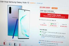 Giá Galaxy Note 10 giảm sốc, cơ hội mua máy cao cấp giá hạ
