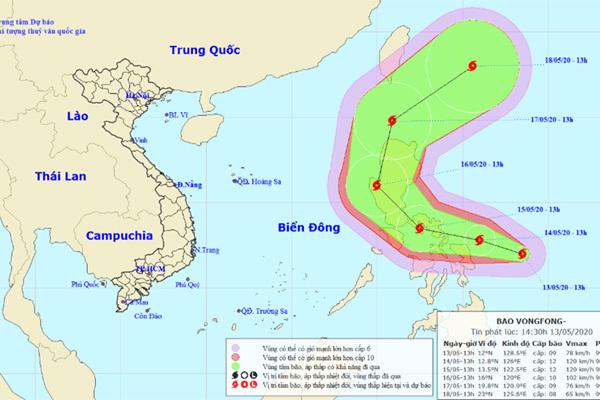 Bão Vongfong diễn biến phức tạp, đề phòng vào Biển Đông