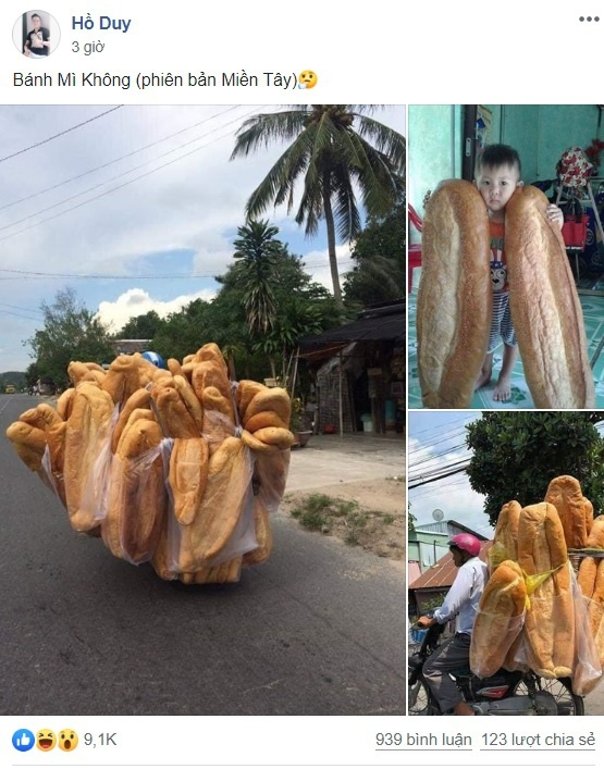 Bánh mì dài 1 m, nặng 3 kg ở An Giang gây xôn xao