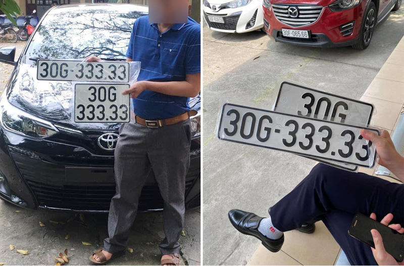 Lại bốc được biển ngũ quý, 'xe cỏ' Toyota Vios đồn đoán có giá tiền tỷ