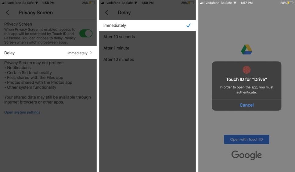 Cách bảo vệ file trên Google Drive bằng Face ID, Touch ID